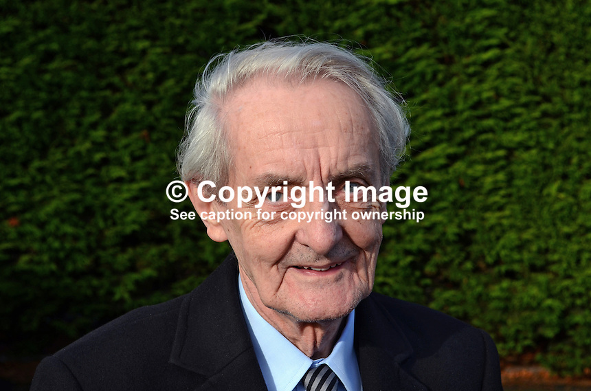 Rev William McMillan, aka Reverend Mac, minister, Non-Subscribing Presbyterian Church, Dunmurry, Belfast, N Ireland, also renown as a floral artist. 201211190940..Copyright Image from Victor Patterson, 54 Dorchester Park, Belfast, UK, BT9 6RJ..Tel: +44 28 9066 1296.Mob: +44 7802 353836.Voicemail +44 20 8816 7153.Skype: victorpattersonbelfast.Email: victorpatterson@me.com.Email: victorpatterson@ireland.com (back-up)..IMPORTANT: If you wish to use this image or any other of my images please go to www.victorpatterson.com and click on the Terms & Conditions. Then contact me by email or phone with the reference number(s) of the image(s) concerned.