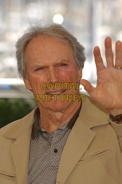 "CLINT EASTWOOD.""Mystic River"" Photocall.Cannes Film Festival 2003.www.capitalpictures.com.sales@capitalpictures.com.©Capital Pictures"