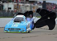 May 20, 2017; Topeka, KS, USA; NHRA funny car driver Tim Wilkerson during qualifying for the Heartland Nationals at Heartland Park Topeka. Mandatory Credit: Mark J. Rebilas-USA TODAY Sports