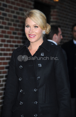 Christina Applegate at The Ed Sullivan Theatre for an appearance on The Late Show with David Letterman in New York City. March 23, 2009 Credit: Dennis Van Tine/MediaPunch