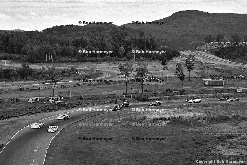 Parade Lap before the 1971 SCCA Can-Am event at Le Circuit Mont Tremblant/St. Jovite, Quebec, Canada.