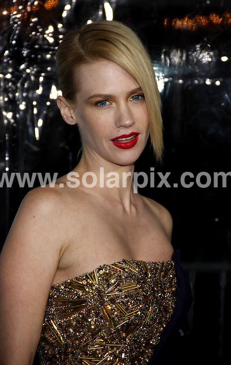 **ALL ROUND PICTURES FROM SOLARPIX.COM**                                             **SYNDICATION RIGHTS FOR UK, AUSTRALIA, DENMARK, PORTUGAL, S. AFRICA, SPAIN & DUBAI (U.A.E) & ASIA (EXCLUDING JAPAN) ONLY**                                                                                  Caption: Arrivals at the Los Angeles Premiere of - Unknown - held at the Mann Village Theatre, Westwood, CA, USA. 16 February 2011                                                                              This pic: January Jones                                                                                 JOB REF: 12809 PHZ Evans      DATE: 16_02_2011                                                           **MUST CREDIT SOLARPIX.COM OR DOUBLE FEE WILL BE CHARGED**                                                                      **MUST AGREE FEE BEFORE ONLINE USAGE**                               **CALL US ON: +34 952 811 768 or LOW RATE FROM UK 0844 617 7637**
