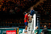 Rotterdam, The Netherlands, 9 Februari 2020, ABNAMRO World Tennis Tournament, Ahoy, Doubles: Rohan Bopanna (IND) and Denis Shapovalov (CAN), Jean-Julien Rojer (NED) and Horia Tecau (ROU).<br /> Photo: www.tennisimages.com