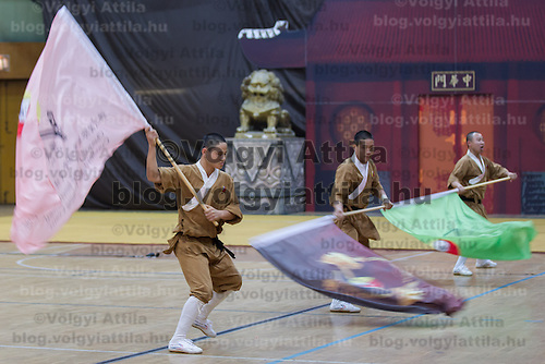 Opening ceremony of the 3rd International Chan Wu, Traditional Kung Fu and Wu Shu Championships in Budapest, Hungary on November 24, 2012. ATTILA VOLGYI