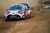 5th October 2017, Costa Daurada, Salou, Spain; FIA World Rally Championship, RallyRACC Catalunya, Spanish Rally; Esapekka LAPPI - Janne FERM of Toyota Gazoo Racing WRT sliding in the shakedown