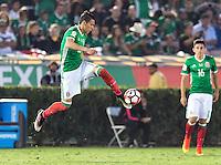 Pasadena, CA - Thursday June 09, 2016: Hector Moreno during a Copa America Centenario Group C match between Mexico (MEX) and Jamaica (JAM) at Rose Bowl Stadium.