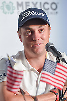 Justin Thomas (USA) answers media questions during the preview of the World Golf Championships, Mexico, Club De Golf Chapultepec, Mexico City, Mexico. 2/27/2018.<br /> Picture: Golffile | Ken Murray<br /> <br /> <br /> All photo usage must carry mandatory copyright credit (&copy; Golffile | Ken Murray)