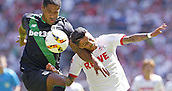 01.08.2015. RheinEnergieStadion, Cologne, Germany. Cologne Leonardo Bittencourt Court against Glenn Johnson during the Colonia Cup 2015 between  FC Cologne and Stoke City FC