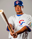Lin, Chih-Sheng of Team Chinese Taipei poses during WBC Photo Day on February 25, 2013 in Taichung, Taiwan. Photo by Victor Fraile / The Power of Sport Images