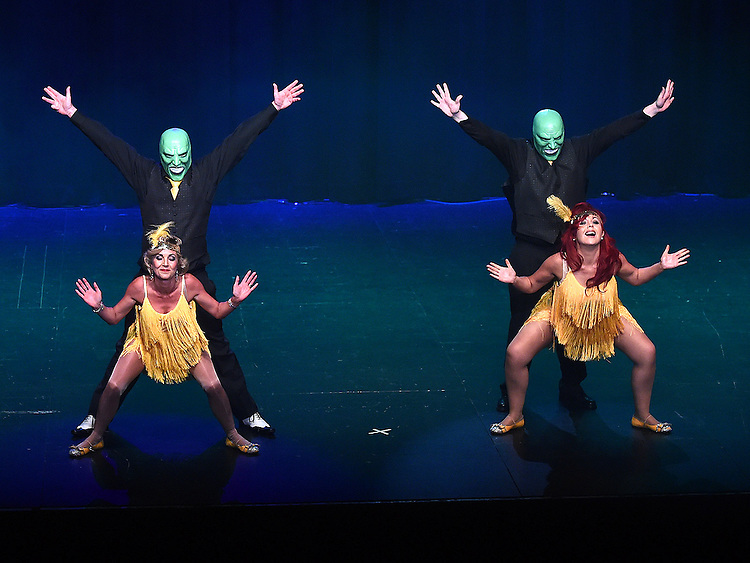 The Mask performing at the Drogheda Town FC dance show in the TLT. Photo:Colin Bell/pressphotos.ie