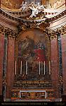 High Altar detail Fresco St Charles in Glory Carlo Maratta<br /> San Carlo al Corso Rome