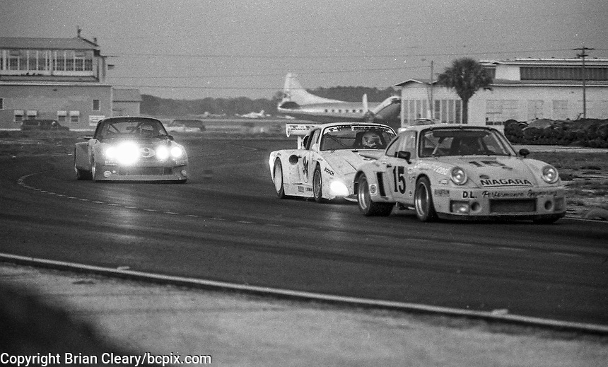 #15 Porsche Carrera RSR of Doug Lutz, Mike Brummer, and Larry Connor (49th place) 12 Hours or Sebring, Sebring International Raceway, Sebring, FL, March 19, 1983.  (Photo by Brian Cleary/bcpix.com)