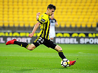 Wellington's Matthew Ridenton in action during the A-League football match between Wellington Phoenix and Melbourne Victory at Westpac Stadium in Wellington, New Zealand on Friday, 10 January 2018. Photo: Dave Lintott / lintottphoto.co.nz