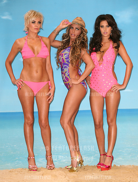 Katie Price and her 'Blacksheep girls' launch her new swimwear range for Katie's Boutique for Store 21 at The Worx Studio's, London. 07/03/2012 Picture by: Alexandra Glen / Featureflash