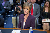 """Former Acting Attorney General of the United States Sally Q. Yates appears before the US Senate Committee on the Judiciary Subcommittee on Crime and Terrorism hearing titled """"Russian Interference in the 2016 United States Election"""" on Capitol Hill in Washington, DC on Monday, May 8, 2017.<br /> Credit: Ron Sachs / CNP<br /> (RESTRICTION: NO New York or New Jersey Newspapers or newspapers within a 75 mile radius of New York City)"""