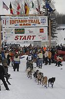 Heather Siirtola Willow restart Iditarod 2008.