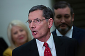 United States Senator John Barrasso (Republican of Wyoming) speaks to members of the media during a dinner break in the impeachment trial of United States President Donald J. Trump at the United States Capitol in Washington D.C., U.S., on Monday, January 27, 2020.<br />  <br /> Credit: Stefani Reynolds / CNP