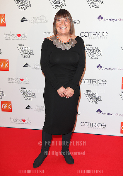 Hilary Alexander arriving for the WGSN Global Fashion Awards at The Savoy Hotel, London. 05/11/2012 Picture by: Alexandra Glen / Featureflash