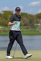 Matt Fitzpatrick (ENG) after sinking his putt on 6 during round 2 of the Arnold Palmer Invitational at Bay Hill Golf Club, Bay Hill, Florida. 3/8/2019.<br /> Picture: Golffile | Ken Murray<br /> <br /> <br /> All photo usage must carry mandatory copyright credit (&copy; Golffile | Ken Murray)