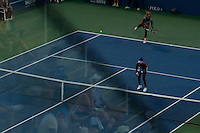 Serena and Venus Williams play during their second round match at the US Open 2014 tennis tournament at the USTA Billie Jean King National Center in New York.  08.29.2014. VIEWpress
