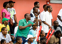 Jamaican fans cheer on their team during the group stage of the CONCACAF Men's Under 17 Championship at Catherine Hall Stadium in Montego Bay, Jamaica. Jamaica defeated Guatemala, 1-0.