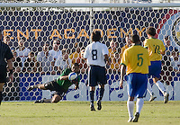USA goalkeeper Earl Edwards (1) saves a shot. 2007 Nike Friendlies, which are taking place from Dec. 6-9 at IMG Academies in Bradenton, Fla.