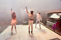 SAN FRANCISCO, CALIFORNIA - AUGUST 10: Flume, Vera Blue - Celia Pavey, Reo Cragun perform onstage during the 2019 Outside Lands Music And Arts Festival at Golden Gate Park on August 10, 2019 in San Francisco, California. <br /> CAP/MPI/IS<br /> ©IS/MPI/Capital Pictures