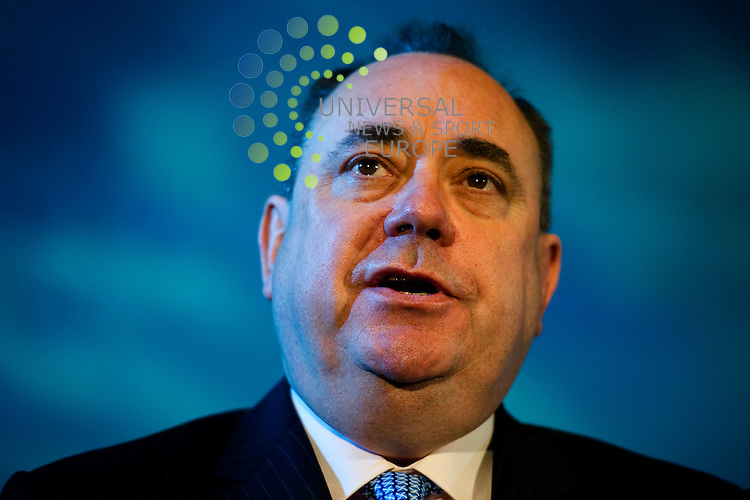 The campaign for the yes vote in the Scottish Independence Referendum is launched by celebrities and political figures to try and convince peoplew to vote for scottish separation from the UK, Edinburgh, Scotland, 25th May 2012. Pictured Alex Salmond.Picture:Scott Taylor Universal News And Sport (Europe) .All pictures must be credited to www.universalnewsandsport.com. (Office)0844 884 51 22.