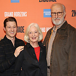 "Ben McKenzie, Jane Alexander and James Cromwell during the Second Stage Theater presents ""Grand Horizons"" at the Marquis Hotel on December 11, 2019 in New York City."