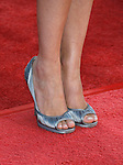 "WESTWOOD, CA. - June 23: Actress Marion Cotillard's shoes at the 2009 Los Angeles Film Festival's premiere of ""Public Enemies"" at the Mann Village Theatre on June 23, 2009 in Westwood, Los Angeles, California."