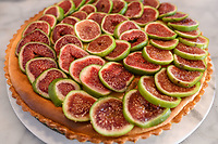 Melbourne, May 6, 2018 - A dish of fig and ricotta tart at Gertrude Street Enoteca, Fitztroy, Australia. Photo Sydney Low