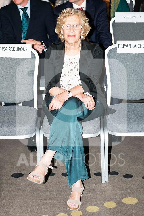 Madrid Mayor Manuela Carmena during the presentation of the IIFA Awards in Madrid. June 23, 2016. (ALTERPHOTOS/BorjaB.Hojas)