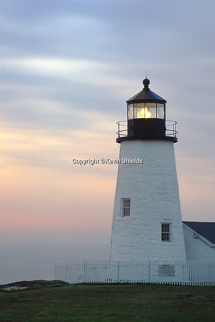 Dawn view of Pemaquid Point Lighthouse, Bristol, Maine, USA