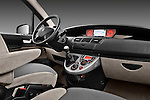Passenger side dashboard view of a 2011 Peugeot 807 SV Executive Minivan Stock Photo