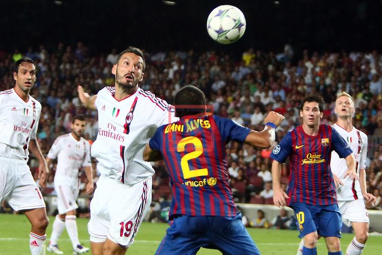 Zambrotta vs Alves. FC Barcelona vs AC Milan: 2-2 (UEFA Champions League - Season 1).