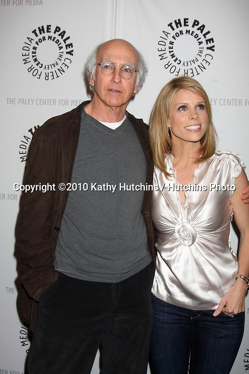 """Larry David & Cheryl Hines.arrives at the """"Curb Your Enthusiam """" PaleyFEST Event.Saban Theater.Los Angeles, CA.March 14, 2010.©2010 Kathy Hutchins / Hutchins Photo...."""