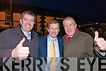 Thumbs up for John Sheahan and Jimmy Dinnehan when party leader Enda Kenny arrived in Abbeyfeale last Wednesday night.