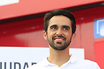 Former Champion Alberto Contador (ESP) part of the podium ceremony at the end of Stage 3 of La Vuelta 2019 running 188km from Ibi. Ciudad del Juguete to Alicante, Spain. 26th August 2019.<br /> Picture: Eoin Clarke | Cyclefile<br /> <br /> All photos usage must carry mandatory copyright credit (© Cyclefile | Eoin Clarke)