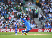 June 18th 2017, The Kia Oval, London, England;  ICC Champions Trophy Cricket Final; India versus Pakistan; Hardik Pandya of India plays the bouncer for 6