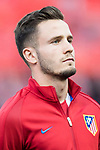 Saul Niguez Esclapez of Atletico de Madrid prior to the 2016-17 UEFA Champions League Quarter-Finals 1st leg match between Atletico de Madrid and Leicester City at the Estadio Vicente Calderon on 12 April 2017 in Madrid, Spain. Photo by Diego Gonzalez Souto / Power Sport Images