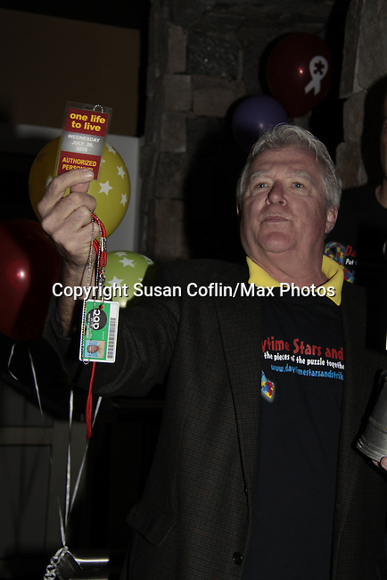 Live Auction - Jerry verDorn - 11th Annual Daytime Stars & Strikes Event for Autism - 2015 on April 19, 2015 hosted by Guiding Light's Jerry ver Dorn (& OLTL) and Liz Keifer at Bowlmor Lanes Times Square, New York City, New York. (Photos by Sue Coflin/Max Photos)