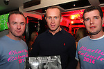 Andy O Brien, Roger Lynon and Wayne Hurley at the Drogheda Fire Service Charity Calendar Launch in Barroco.<br /> Picture: Shane Maguire / www.newsfile.ie