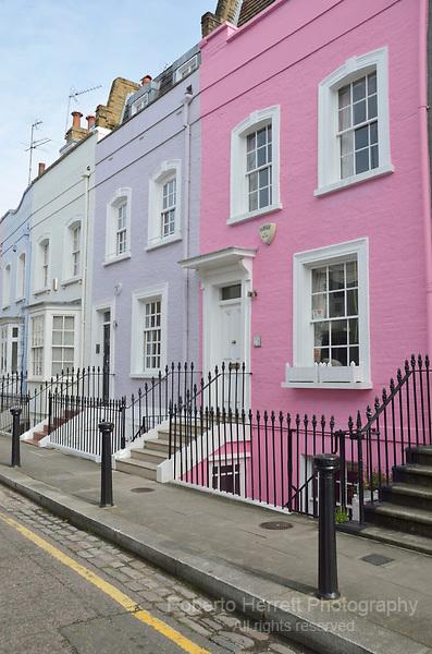 Bywater Street SW3, Chelsea, London, UK.