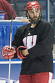 Matt Olinger - The University of Wisconsin Badgers practiced on Wednesday, April 5, 2006, at the Bradley Center in Milwaukee, Wisconsin.  The Badgers won the Title by defeating Maine on April 6 and Boston College on April 8.