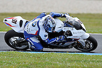 PHILLIP ISLAND, 27 FEBRUARY - Leon Haslam (GBR) riding the BMW S1000 RR (91) of the BMW Motorrad Motorsport Team during race one of round one of the 2011 FIM Superbike World Championship at Phillip Island, Australia. (Photo Sydney Low / syd-low.com)