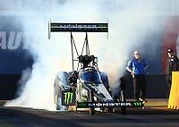 Feb 3, 2016; Chandler, AZ, USA; NHRA top fuel driver Brittany Force during pre season testing at Wild Horse Pass Motorsports Park. Mandatory Credit: Mark J. Rebilas-USA TODAY Sports