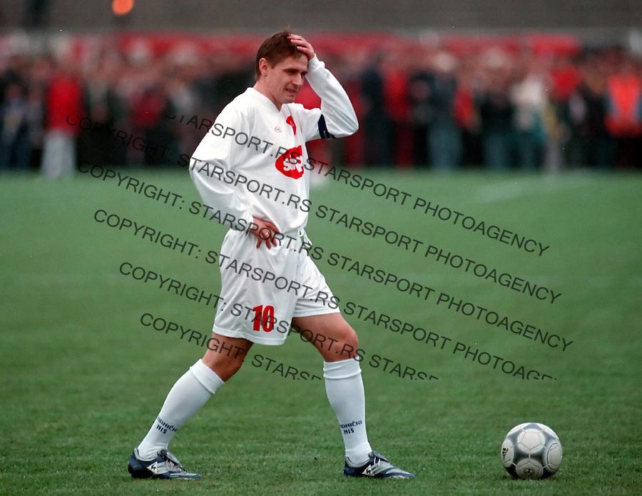 Dragan Stojkovic Piksi, oprostajna utakmica (last game in his career), .NIS, 30.10.2001..foto: Srdjan Stevanovic