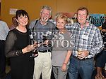 Ann Smyth, Martin McGuinness, Marie McKenny and Brendan Sharpe at the Ardee CS Leaving Cert Class of 1976 reunion in Ardee Golf Club. . Photo:Colin Bell/pressphotos.ie