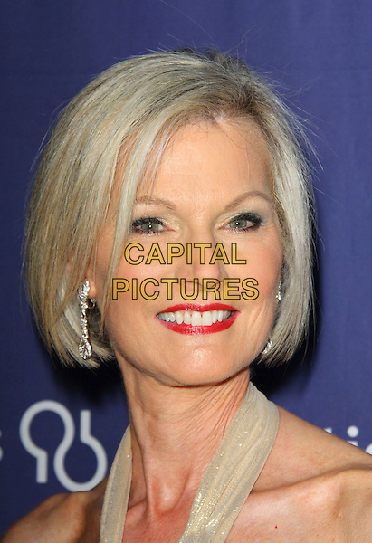 """LAURIE BURROWS GRAD.The Alzheimer's Association's 17th Annual """"A Night At Sardi's"""" held at the Beverly Hilton Hotel, Beverly Hills, California, USA..March 4th, 2009.headshot portrait red lipstick .CAP/ADM/KB.©Kevan Brooks/AdMedia/Capital Pictures."""