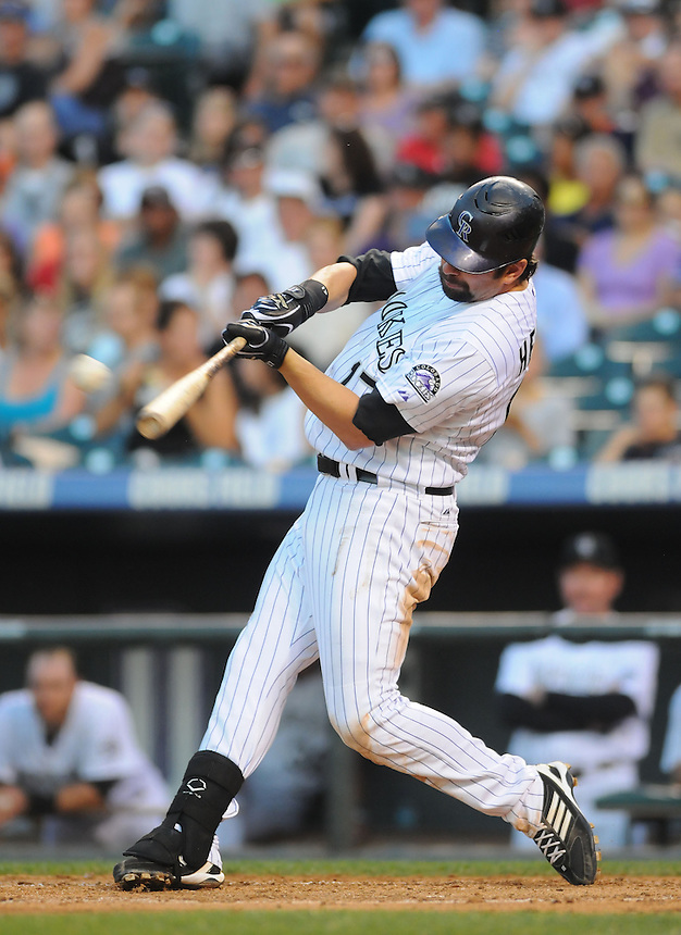 28 JUNE 2011: Colorado Rockies first baseman Todd Helton (17) during a regular season interleage game between the Chicago White Sox and the Colorado Rockies. The Rockies beat the White Sox 3-2 in 13 innings.   *****For Editorial Use Only*****
